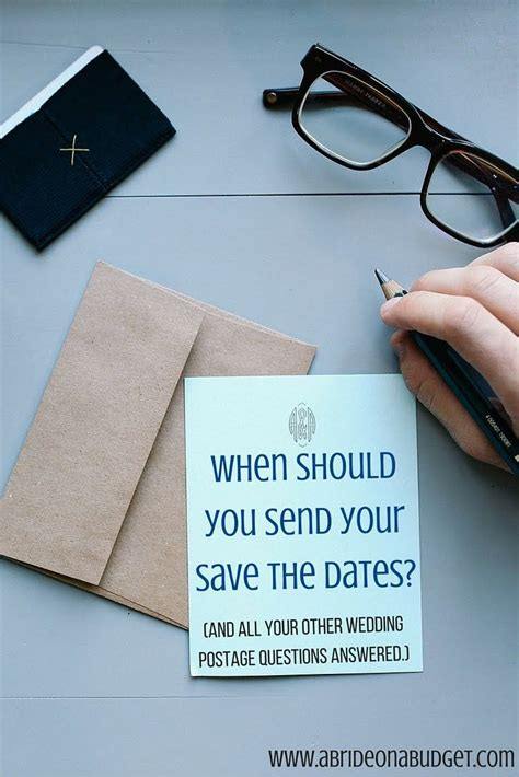 when should you send your save the dates and all your other wedding postage questions answered - When Should You Send Thank Cards For Wedding Gifts