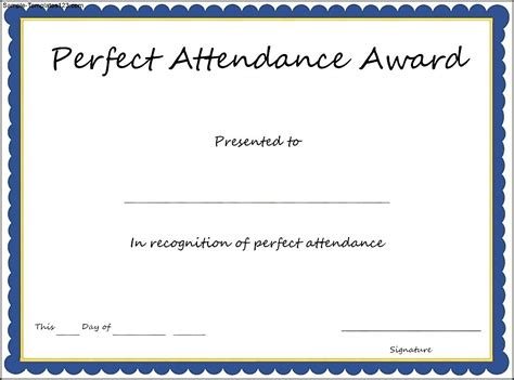 attendance certificate template free attendance certificates free templates mughals