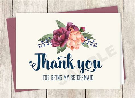 Diy Thank You Cards Template by Bridesmaid Thank You Cards Diy Diy Do It Your Self