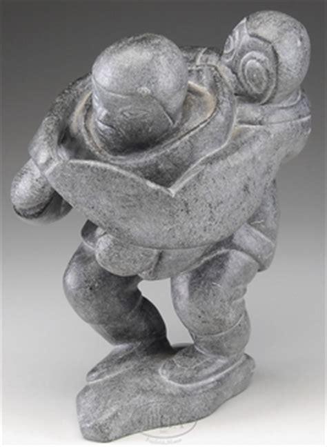 inuit soapstone carvings value carving inuit qumaluk levi soapstone inuit penguin
