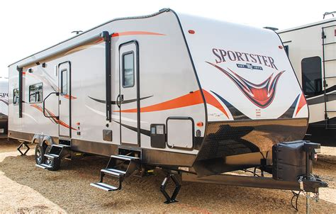 kz rv travel trailers fifth wheels toy haulers sportster 301thr travel trailer toy hauler k z rv