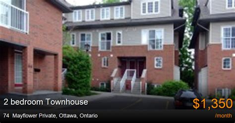 2 bedroom townhouse for rent ottawa 74 mayflower private ottawa townhouse for rent b20698