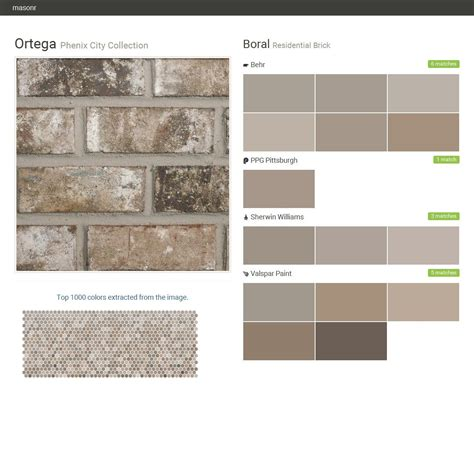brick paint colors ortega phenix city collection residential brick boral