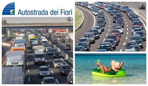 code autostrada dei fiori imperia ponte di ferragosto le previsioni di traffico