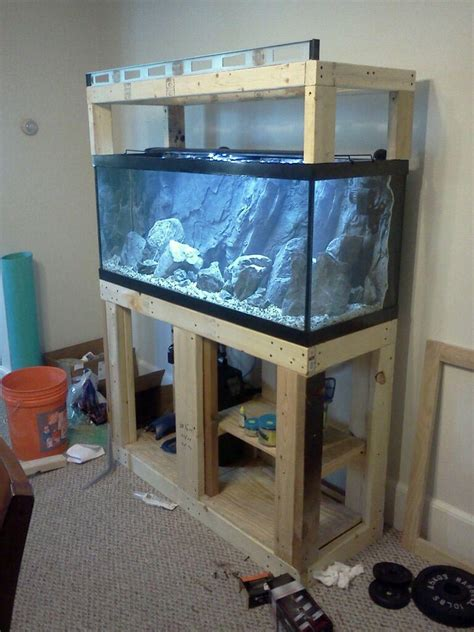 Stand Galon Aqua 10 gallon aquarium stand with pictures on how to build a