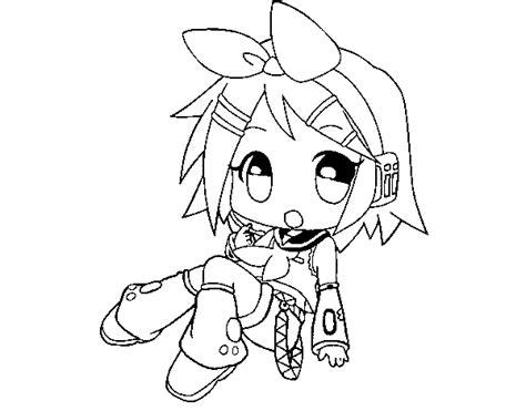 imagenes de hatsune miku kawaii para colorear dibujo de rin kagamine para colorear dibujos net