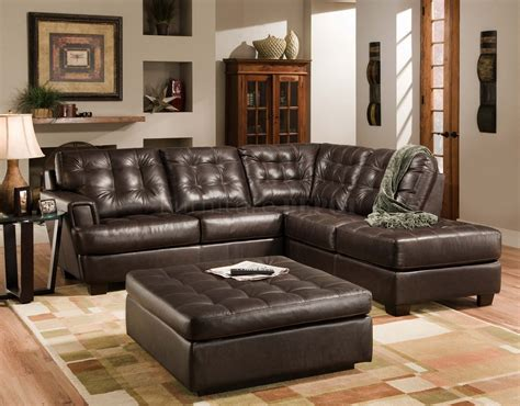 Brown Leather Sectional Living Room Design Living Room Living Room Ideas Leather Sofa