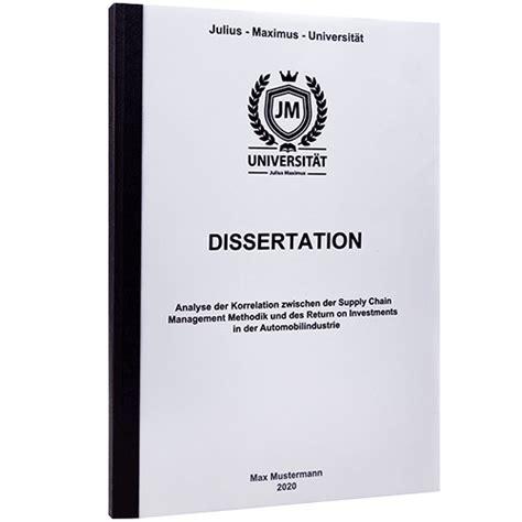mit dissertation dissertation doktorarbeit drucken binden versand gratis