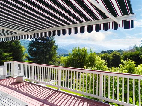 balcony awnings motorized retractable awnings ers shading san jose