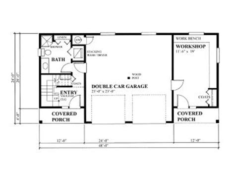 Garage With Apartment Plans by Garage Workshop Plans Two Car Garage Workshop Plan With