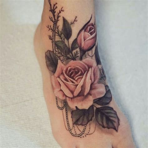 rose and pearl tattoo 17 best ideas about foot tattoos on