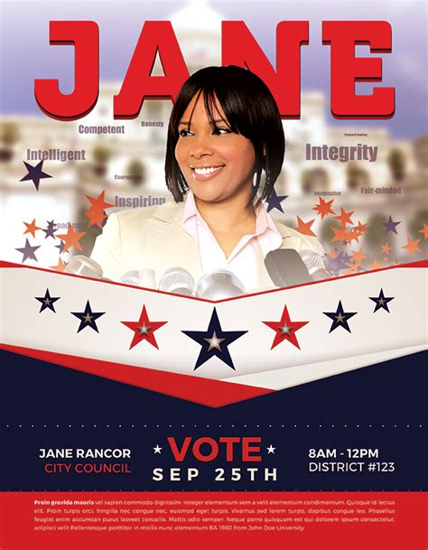 vote for me flyers templates best political flyer templates seraphimchris graphic