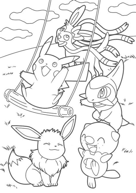 coloring pages pikachu and friends 205 best images about coloring pages on pinterest disney