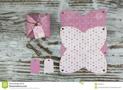 Handmade Gifts From Paper - gift box template made of paper stock photo image 45456214