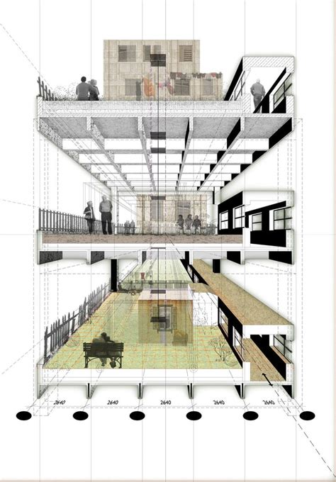 section drawing architecture 533 best sectional axonometric or perspective views images