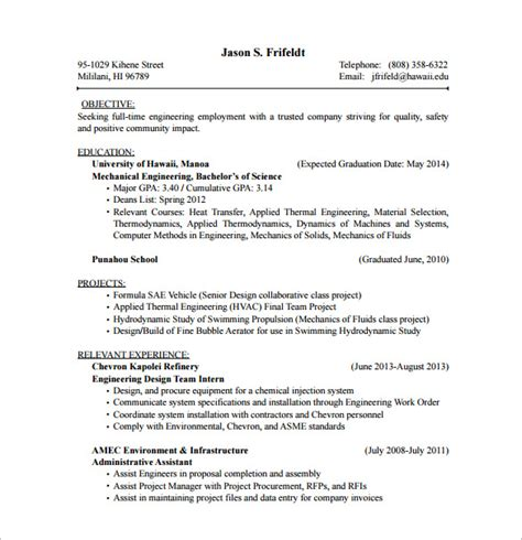 hvac design engineer resume sles hvac resume template 10 free word excel pdf format