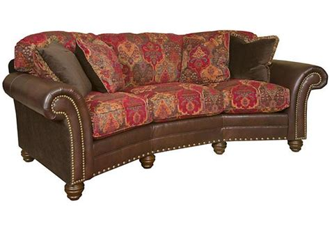 King Hickory Living Room Katherine Leather Fabric King Hickory Leather Sofa
