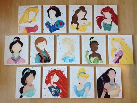disney princess painting play items similar to buy 9 get 4 free disney princess abstract