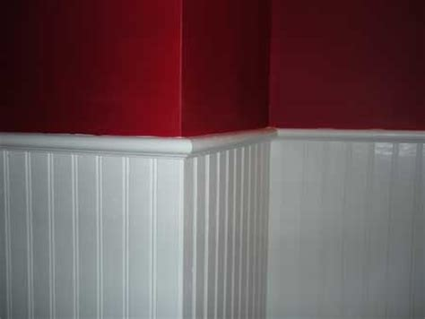 bead boarding beadboard wainscoting with accent wall office