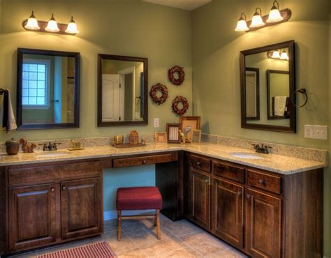 likable corner bathroom vanities design interior ideas