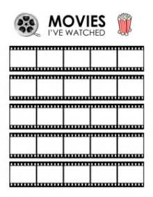 tracking films you ve watched in your bullet journal