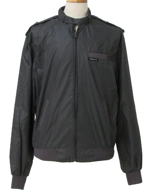 It Only It Were Zip by Retro Eighties Jacket 80s Members Only Mens Charcoal