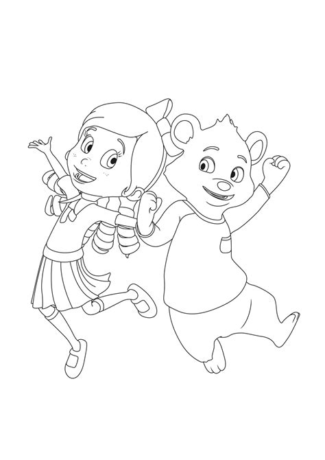 goldie bear coloring pages goldie and bear coloring pages to download and print for free