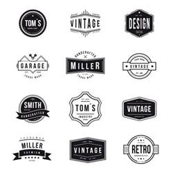 retro logo templates vintage logos collection vector free