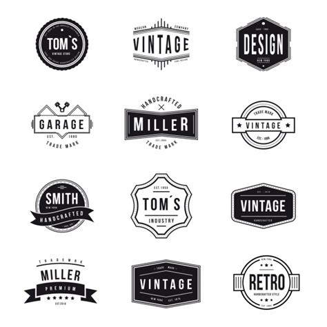 Kaos Distro Desain Minimalist Logo vintage logos collection vector free