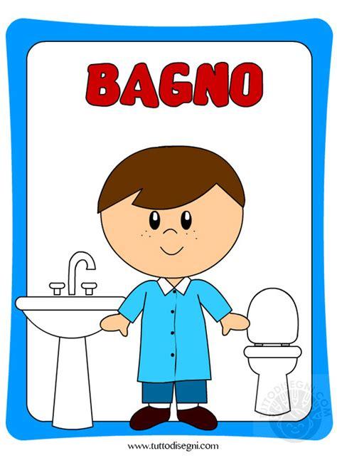 disegni bagno cartellone per la porta bagno bambini tuttodisegni