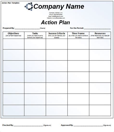 Smart Plan Template by Plan Template 110 Free Word Excel Pdf