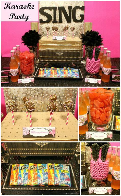 karaoke themed birthday party karaoke party ideas and printables moms munchkins