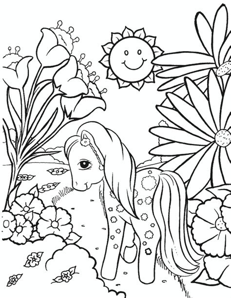 Pony Colouring Pages My Little Pony Coloring Pages Coloringpages1001 Com by Pony Colouring Pages