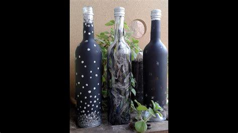como decorar botellas en vidrio ideas para decorar botellas de vidrio animal print youtube