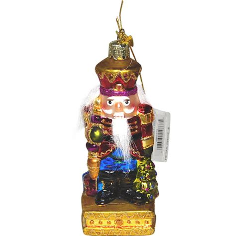 fancy nutcracker glass ornament