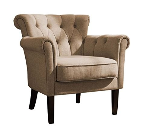 Big Accent Chairs Arm Accent Chair Seat Large Khaki Brown Deluxe Stylish