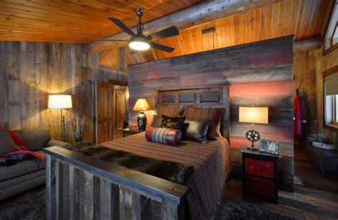Country Rustic Bedroom - star prairie lake home rustic bedroom minneapolis by lake country builders