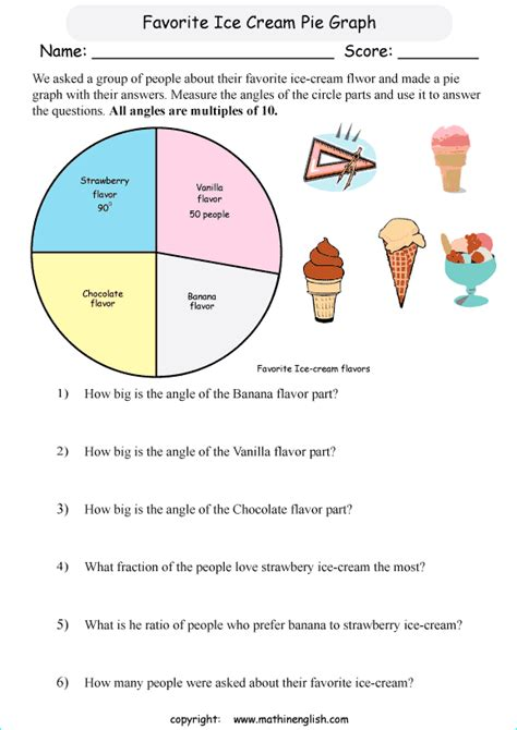Pie Graph Worksheets by Measure The Angles Of The Parts In The Pie Graph And