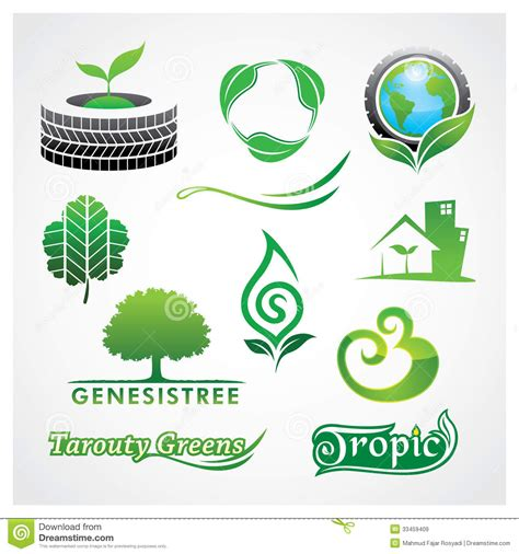 greens symbol stock vector image of tree design nature