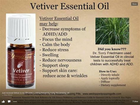 Living Essential Vetiver 5ml vetiver foradhd add essential oils