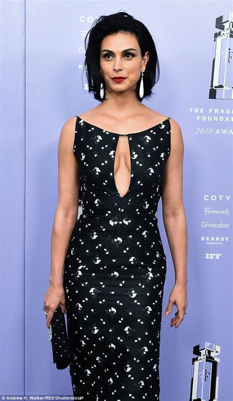 Morena Dress morena baccarin flashes cleavage in stunning form fitting
