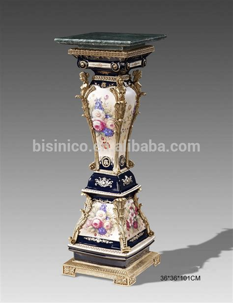 An Antique Urn With More Elaborate Designs And Finishing Pieces Also An Earlier Would Blue Ceramic Glaze Decor Vase European Noble Painted Porcelain Flower Vase With Bronze