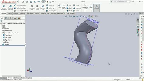 tutorial solidworks beginner sweep solidworks 2016 basic tutorial for beginners youtube