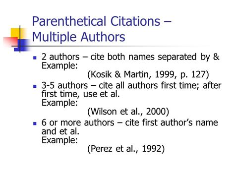 apa format with multiple authors parenthetical citations for research paper