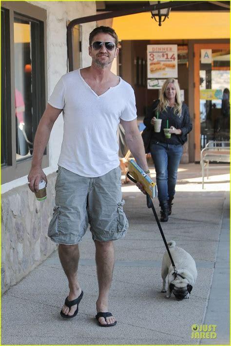 gerard butler pug gerard butler walking his pet pooch pug owners