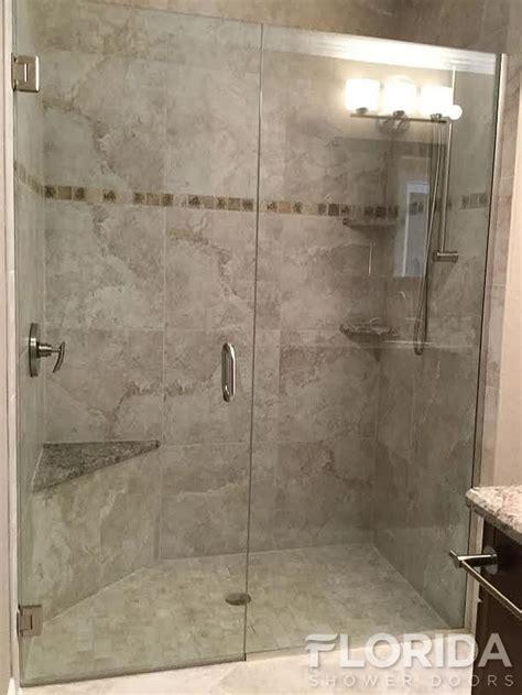 brushed nickel shower door frameless inline glass shower door secured with u channel