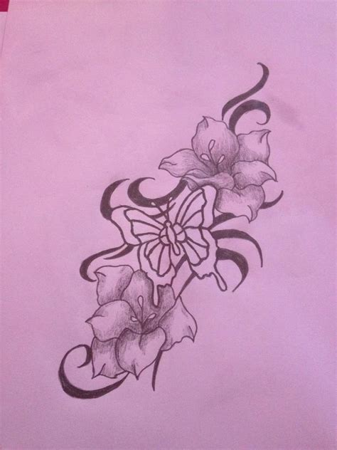 tattoo flower and butterfly designs modify photo size butterfly flower tattoo designs free
