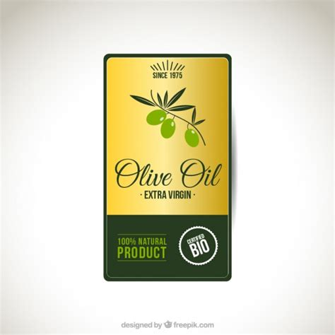 Olive Oil Label Vector Free Download Olive Labels Templates