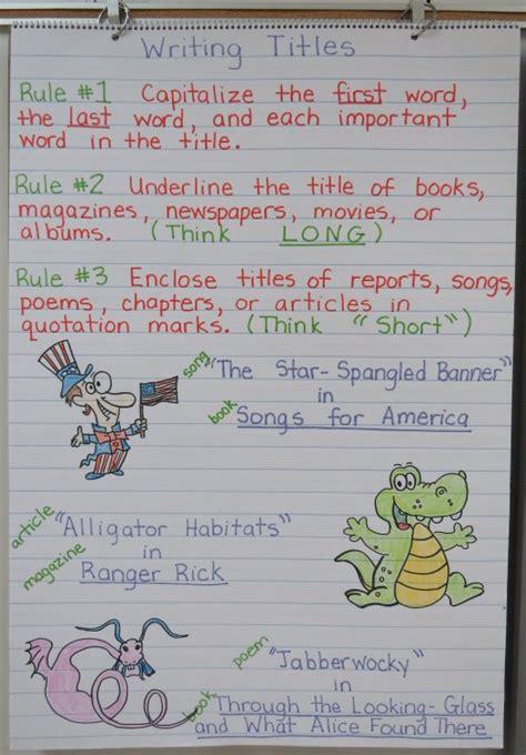 Language Arts Anchor Charts