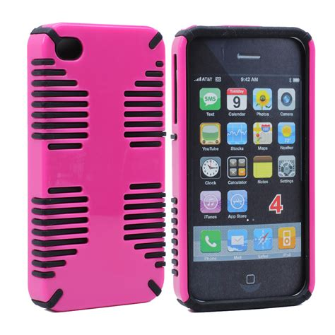 Pink Iphone Cases On The Cheap by Wholesale Iphone 4 4s Hybrid Grip Pink Black